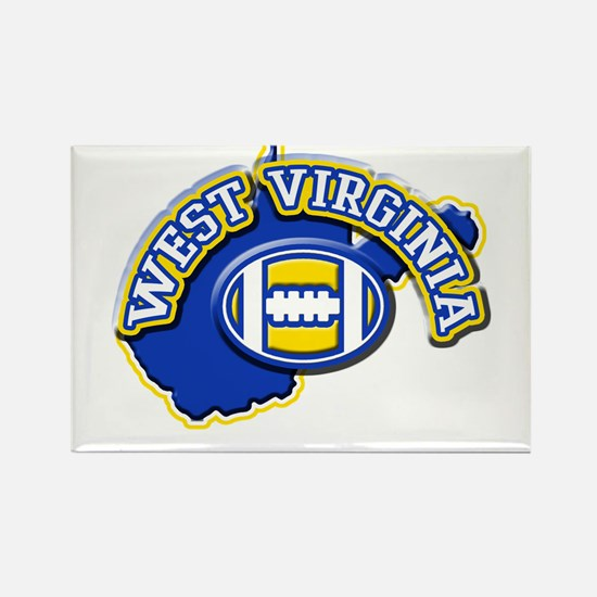 West Virginia Football Rectangle Magnet