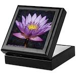 Tropical Purple Water lily -Keepsake Box