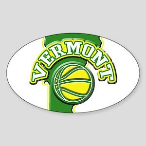 Vermont Basketball Oval Sticker