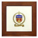 LANOUE Family Crest Framed Tile