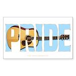 Guitar Pride Rectangle Sticker