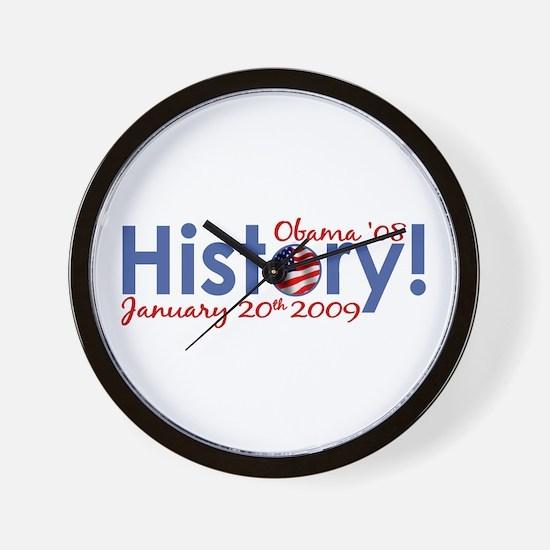 Obama History Inauguration Day Wall Clock