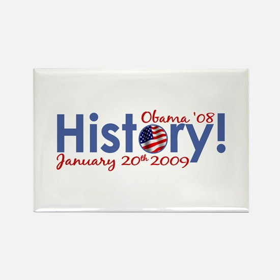 Obama History Inauguration Day Rectangle Magnet