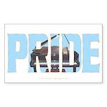 Piano PRIDE Rectangle Sticker