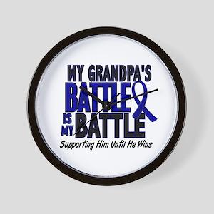 My Battle Too 1 BLUE (Grandpa) Wall Clock