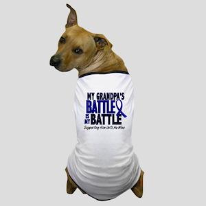 My Battle Too 1 BLUE (Grandpa) Dog T-Shirt