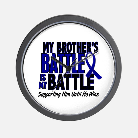 My Battle Too 1 BLUE (Brother) Wall Clock