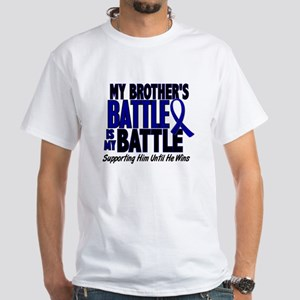 My Battle Too 1 BLUE (Brother) White T-Shirt