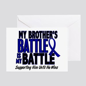 My Battle Too 1 BLUE (Brother) Greeting Card