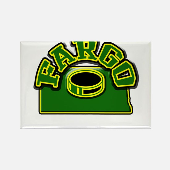 Fargo Hockey Rectangle Magnet