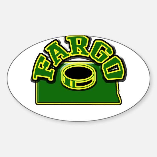 Fargo Hockey Oval Decal
