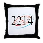 2214 Logo Throw Pillow