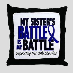 My Battle Too 1 BLUE (Sister) Throw Pillow