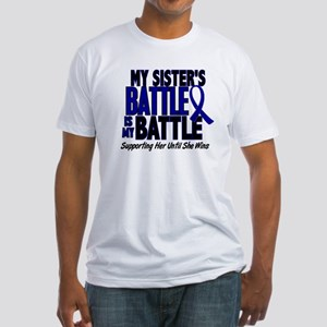 My Battle Too 1 BLUE (Sister) Fitted T-Shirt