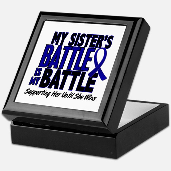 My Battle Too 1 BLUE (Sister) Keepsake Box