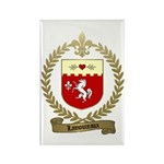 LAMOUREUX Family Crest Rectangle Magnet