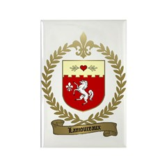 LAMOUREUX Family Crest Rectangle Magnet (100 pack)