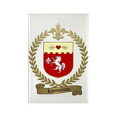 LAMOUREUX Family Crest Rectangle Magnet (10 pack)