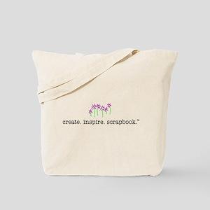 create. inspire. scrapbook. - Tote Bag