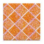 Diamond Pattern Orange Ceramic Tile Coaster