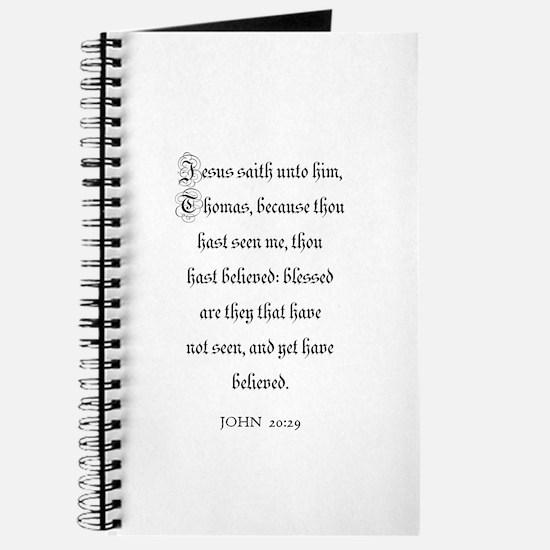 JOHN 20:29 Journal