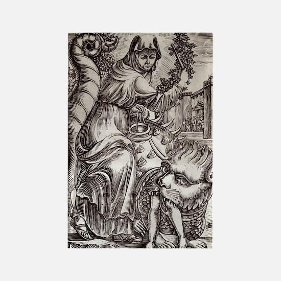 St. Martha & Tarasque Rectangle Magnet