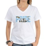 Drums PRIDE Women's V-Neck T-Shirt