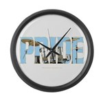 Drums PRIDE Large Wall Clock