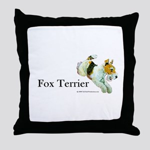 Flying Fox Terrier Throw Pillow
