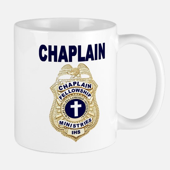 Chaplain Badge with blue letters Coffee Mug