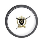 LALANDE Family Crest Wall Clock