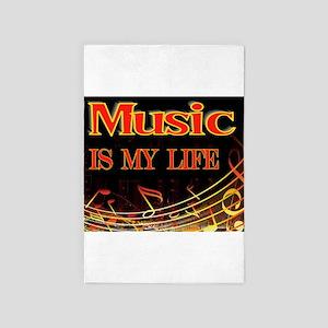 Music Life 4' X 6' Rug