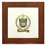 LAJEUNESSE Family Crest Framed Tile