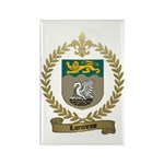 LAJEUNESSE Family Crest Rectangle Magnet (100 pack