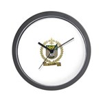 LAJEUNESSE Family Crest Wall Clock