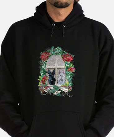 Scottie Terrier Holiday Hoodie (dark)