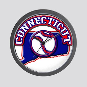 Connecticut Baseball Wall Clock
