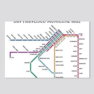 SF MUNI Map (with text) Postcards (Package of 8)