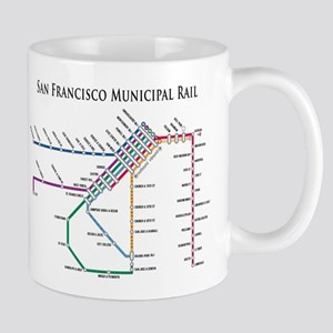 SF MUNI Map (with text) Mug