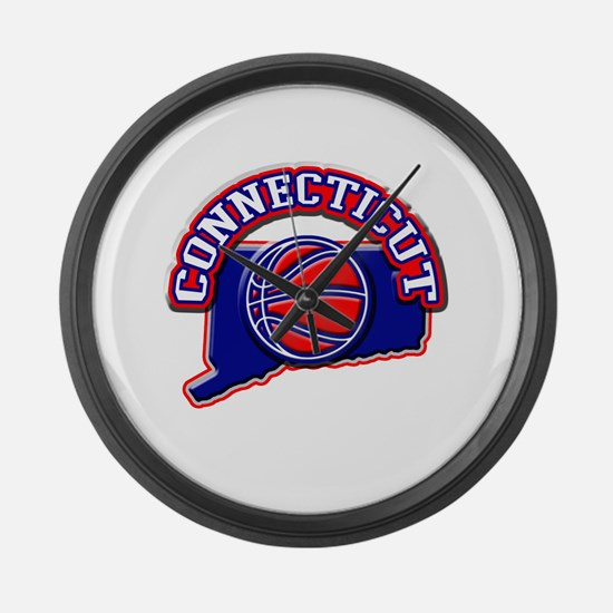 Connecticut Basketball Large Wall Clock