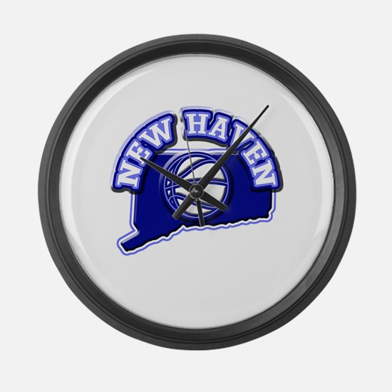 New Haven Basketball Large Wall Clock