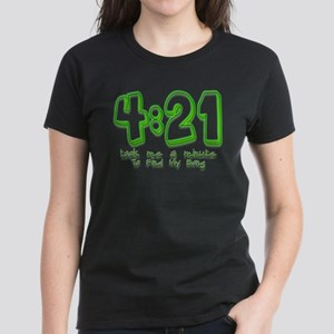 4:21 Funny Lost Bong Pot Desi Women's Dark T-Shirt
