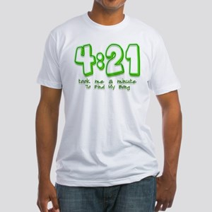 4:21 Funny Lost Bong Pot Desi Fitted T-Shirt