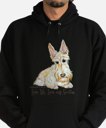 Wheaten Scottish Terrier Hoodie (dark)