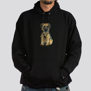 Border Terrier Bark Hoodie (dark)