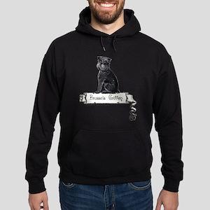 Brussels Griffon Banner Hoodie (dark)