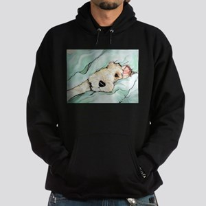 Napping Wire Fox Terrier Hoodie (dark)