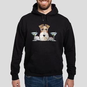 Wire Fox Terrier Happy Hour Hoodie (dark)
