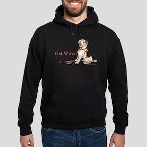 Wire Fox Terrier Dog Walk Hoodie (dark)