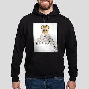 Fox Terriers Rule Hoodie (dark)